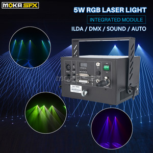 RGB Laser Light 5W For Dj Disco Integrated Internal Module Portable Laser Projector for Lighting Show Party Laser Lights