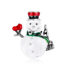 Concisa muñeco de nieve pintura al óleo precioso broche de dibujos animados de Navidad Accesorios Serie