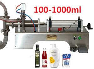 Machine de remplissage liquide pneumatique semi-automatique horizontale commerciale de 100-1000ml, emballeur de jus de remplisseur de boisson de piston