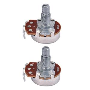 2 Pieces Copper Audio A250K Potentiometer Pots for Electric Guitars Bass Replacement Parts