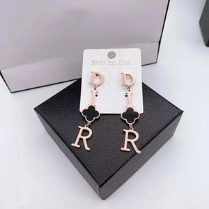 DHL High Quality Gold Plated Love ear Studs Earrings Letter Fashion Earrings For Women Girl Wholesale