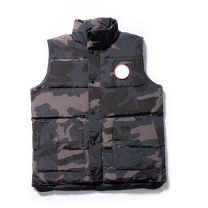 Modo di marca Mens Vest Classic Luxury giù conferisce Designer Parka spesso dei cappotti del rivestimento Solid Zipper Felpa senza maniche Top Quality B101140L