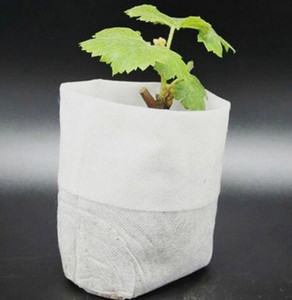 Plant Grow Bags 8*10cm Seedling Pots Biodegradable Non Woven Nursery Bags Home Garden Supply 100pcs set OOA7897