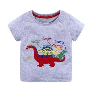 Baby Boys T Shirt Cotton Tops Tees For Boy Cartoon Dinosaur Print Kids Outwear children Clothes Tops 1-6 Year Boys Clothes