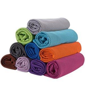 Doble capa de hielo toalla fría Deporte refrigeración en verano contra la insolación Deportes ejercicio de enfriamiento rápido de secado suave y transpirable de refrigeración Toalla 10 colores R3179