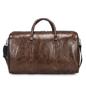 Moda bolsos monederos de las mujeres bolsa de viaje Duffle bolsas de cuero bolsos de hombro del equipaje del bolso del deporte de los hombres bolsa de 6 Style