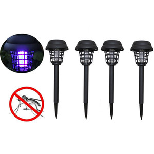 4pc Solar Led Light Mosquito Pest Bug Zapper Insect Killer Lâmpada Jardim anti-mosquito Supplies Mosquito assassino Luz