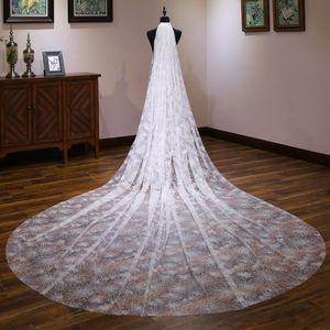 Shakes With Paragraph Bride Head Yarn übertreffen unsterblichen Glitzern Sternenhimmel Luxuriöser Super Langer Nachlauf Koreanischer Stil Heiraten C19031801