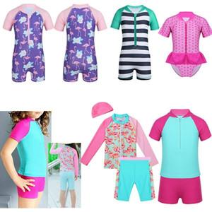 2019 yeni Çocuk kız bebek mayo mayo sörf plaj güneşten korunma ürünleri kısa kollu elbise
