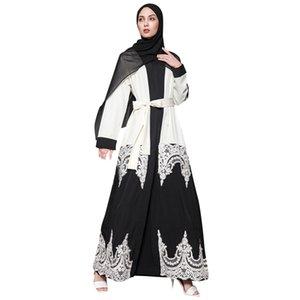 abito musulmano elegante per le donne vestono Muslim Prayer Abaya Cardigan Robe turco Hijab islamico di abaya Abbigliamento manica lunga