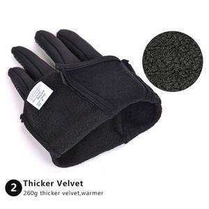 Escursione esercito Guanti Guanti Tacticos Luva WindStopper Tessuto Warmer Touch Screen Gloves per gli sport invernali Uomini Donne escursionismo Glove