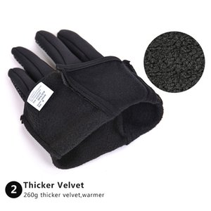 Wandern Handschuhe Armee Guantes tacticos Luva Windstopper Stoff Warmer Touch-Screen-Handschuhe für Sport Winter Männer Frauen Wandern Glove
