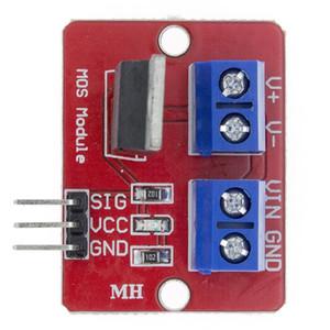 아두 이노 MCU ARM 라즈베리 파이를 들어 0-24V 최고 MOSFET의 버튼 IRF520 MOS 드라이버 모듈