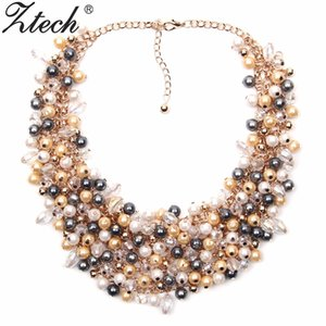 Ztech Schmuck European American Big Temperament Beliebte Trendy Palace Schönheit simulierte Perlenkette Halskette Statement