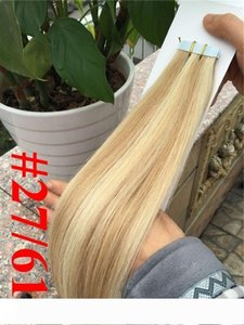 "En kaliteli 7A Hint Remy insan saçı düz 14 ""-26"" saç uzantıları 16 'üzerine PU bant' - 24 '' kaset saç extensio"