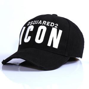 2019 Atletik Açık Accs Ayarlanabilir Işlemeli Şapka Pamuk beyzbol şapkası DSQICOND2 erkek Ve kadın Spor Kapaklar Headwears Sn