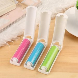 DHL Portable Lint rollers Sticky Roller 3 Colors Washable Hair Dust Remover Brush Clothes Sweater Cleaning nd Sticky Roller Cleaning Tool