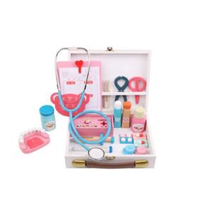 Juego de imaginación de todos de madera Doctor Toy Boys Girl Nurse Imitación Laptop Kits médicos Set Juguetes para niños