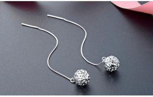 Top-Qualität der Frauen S925 Sterlingsilber-Tropfen-Ohrringe SS925 Frauensilberohrring Troddel-Ohrring baumelt silberne Ohrringe Gewinde