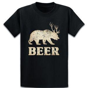 Vintage Bear Deerbeer T Shirt Summer Style Vintage Over Size 5xl Kawaii интересная хлопчатобумажная рубашка с юмором