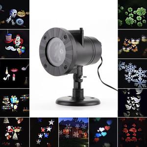 12 Padrões de Natal Laser Snowflake Projector LED ao ar livre impermeável Luz de Discoteca Início Jardim Luz Estrela decoração de interiores