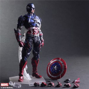 Bestselling PLAYARTS Kai Movable Figure Model Captain America Colorbox PA GK Boys Gift