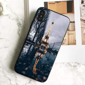 Capa Luxury Paris Eiffel Tower Phone Case for iPhone 11 Pro Xs Max Xr 8 7 6s Plus 5 SE Case Soft Black TPU Silicone Cover.