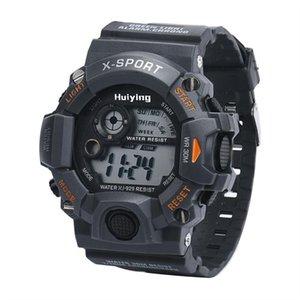 Hot sale Watches Men's Quartz Digital Sports Watches LED Military Silicone Waterproof Wristwatche Wristwatche18Feb05