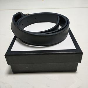 Créateur de mode ceintures hommes femmes ceinture grande boucle lisse ceinture en cuir véritable homme femme Ceintures de luxe 2.0cm, 3.0cm, 3.4cm, largeur 3.8cm noir