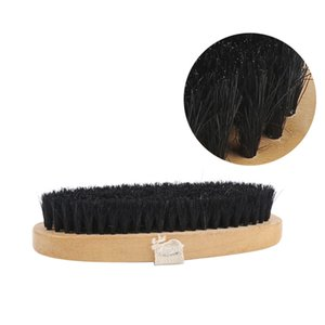 Oval Shoes Shine Brush with Belt Leather Bag Coat Care Cleaning Waxing Tools
