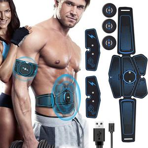 Muscle abdominal Stimulateur formateur EMS Fitness Equipment muscles Accessoires d'entraînement électrostimulateur exercice à la maison J1756