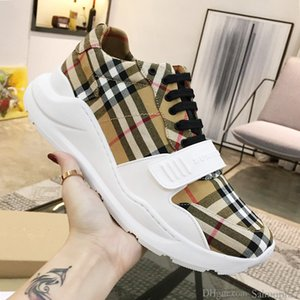 Men Shoes Vintage Check Cotton Sneakers Casual Chaussures pour hommes Athletic Footwears Men Fashion Shoes Type Rubber Soles Fast Shipping