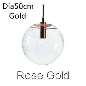 Room Bar Restoran Süspansiyon Yemek Modern İskandinav Rose Gold Siyah Moonlight Cam Topu Avize LEDPendant Işık Lambası Luster