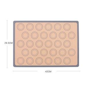 42 * 29.5 CM antiadherente de silicona para hornear la estera del cojín bandeja para hornear pasteles herramientas fibra de vidrio Pasta del balanceo de la estera 4 colores