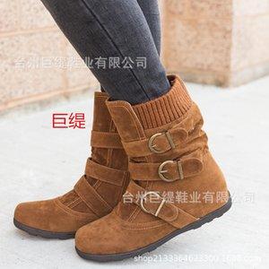 Riesen Tie Schuhe Industry Spot-Adequate Winter-Merk Amazon Explosion in Europa und den Vereinigten Staaten Hot Verkauf mit flachem Boden Größe Frauen