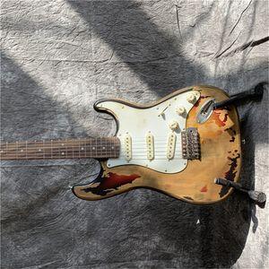 shippingDeluxe Series gratis Masterbuilt Eric Johnson Reliquia della chitarra elettrica 2 colori Sunburst in magazzino