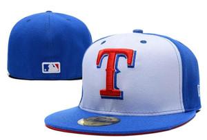 Freies Verschiffen 2019 die meistverkauften neuen Hüte passten Kappen-Baseballmütze-Rückseiten-Farbe Texas aller Größen-Mischungs-Match-Auftrag alle Kappen-Qualitäts-Hut