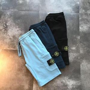 la mayoría de hombre primavera verano de la manera suéter de la raya del algodón costura perfecta detalle reflectante fresco tira pantalones cortos de entrenamiento para los hombres