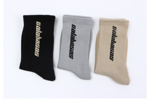 Fashion Men's Stock Trend letter trend Summer Style Men's women's Unisex Street long socks Calabasas middle tube socks