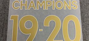 19-20 Champions Nameset Heat Transfer Soccer Patch Badge