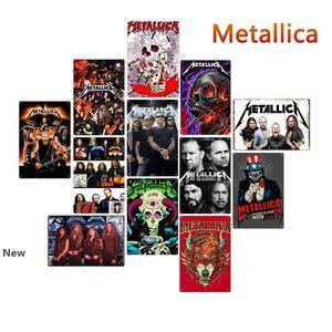 Vintage Rock Band Placas de lata de metal Posters Old Metal Wall Plaque Club Recados Início de arte de metal Pintura Wall Decor Art Imagem decoração de festa FFA2804