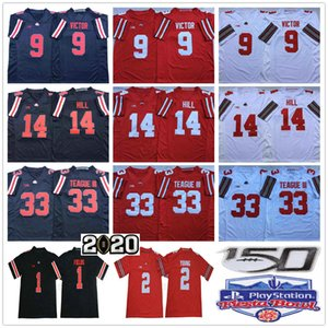 NCAA штата Огайо Buckeyes College Football 9 Binjimen Victor 33 Мастер Тиг III KJ Hill Джастина Fields Chase Young Fiesta Bowl Джерси 150-й