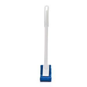 1Pc Toilet Brush Home Shower Room Wc Accessories Portable Toilet Brush Bathroom Scrubber V-Type Bent Cleaner