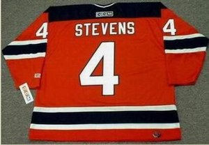Custom Men Youth women Vintage #4 SCOTT STEVENS New Jersey Devils 2003 CCM Hockey Jersey Size S-5XL or custom any name or number