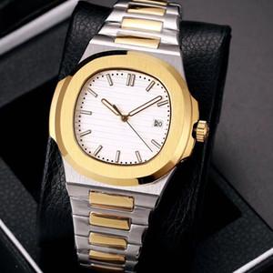 19 couleurs hommes montre auto vent automatique Glide deuxième médaille d'argent en verre saphir main et la montre-bracelet or