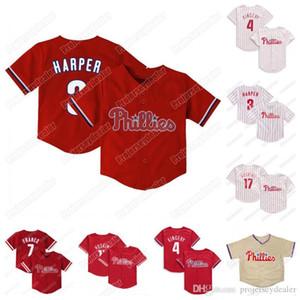 Niño pequeño bebé Harper Rhys Hoskins JT Realmuto Andrew Jean Segura Odubel Herrera Scott Kingery Maikel Franco Baseball Jerseys