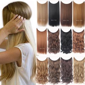 24 Zoll Unsichtbare Metalldraht Clips in Haarverlängerung Geheimnis Fisch Linie Haarteil seidiger Curly Hair Extension