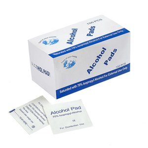 100pcs box Alcohol Wet Wipe Disposable Disinfection Swab Pad Antiseptic Skin Cleaning Care Jewelry Mobile Phone Clean Wipe 50box wholesale