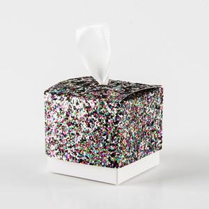 10pcs / lot Faveur de mariage Chinese Box Sweet Wedding Party Box Emballage Faveur pour clients