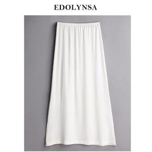 3 ألوان ذات جودة عالية من النساء الموديل الأبيض الصلب Mexi نصف زلة زائد حجم الفساتين المثيرة الطويلة Pajama Lady Underskirt Sleep #K20